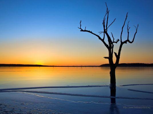 Amanecer en lago-13477
